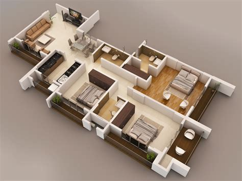 Split Bedroom Floor Plan 2bhk and 3bhk flat for sale in vasaione at vasai west