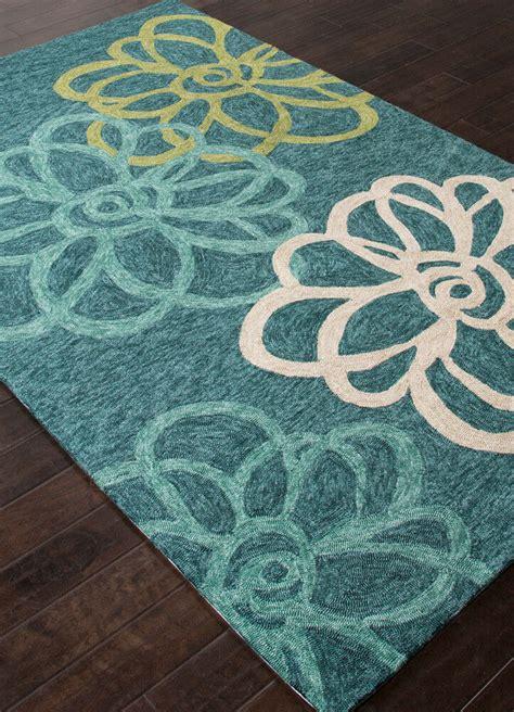 5x8 indoor outdoor rug 5x8 5 x 7 6 quot modern floral coastal blue indoor outdoor