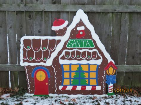 Woods Gingerbread House Commercial Christmas Santa S Gingerbread House Wood Outdoor Village