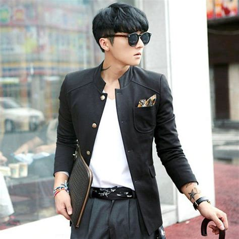 Jaket Kulit Pria Style Korean Slim Black Semi Leather new fashion item jaket korea jaket pria hoody kemeja
