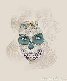 sugar skull face tattoo beautiful calavera catrina or sugar skull lady royalty