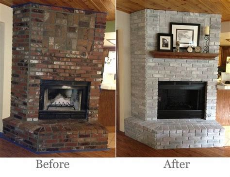 brick fireplace makeover    ideas  cool