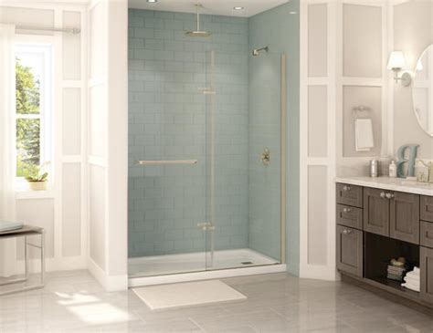 Reveal Shower Door Maax 174 60 Quot Right Reveal Alcove Brushed Nickel At Menards 174