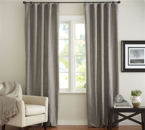 window treatments pottery barn emery linen cotton drape in gray pottery barn window