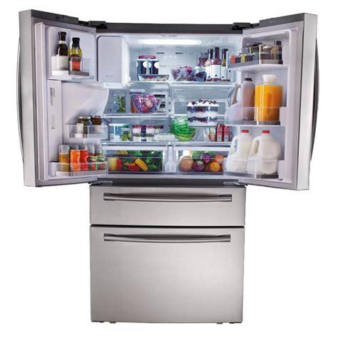samsung 4 door refrigerator samsung rf31fmesbsr 31 cu ft 4 door refrigerator with automatic sparkling water