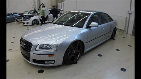 Audi A8 Facelift by Audi A8 D3 Facelift Lowered Show Car Silver Colour