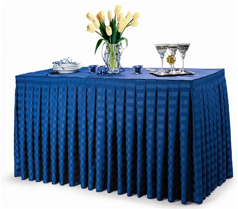 poly stripe table skirts now available premier table linens