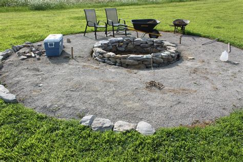 The Completed Stone Fire Pit Project How We Built It For Best Patio Pit