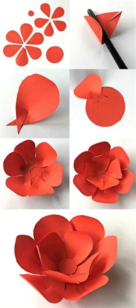 herbstblätter basteln aus papier 1001 ideen wie sie papierblumen basteln k 246 nnen