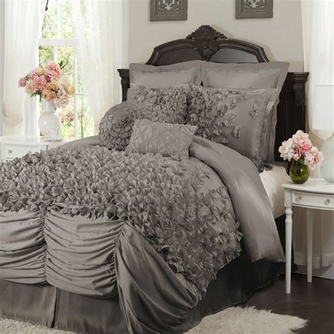 Lush Decor Bedding Lush D 233 Cor C00236p12 Lucia 4 Pc Comforter Set Ebay