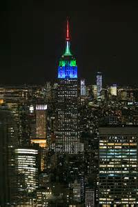 empire state colors empire state building turned blue and green by seahawks