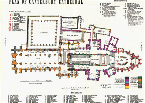cathedral floor plans canterbury cathedral floor plan plan of canterbury