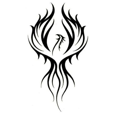 phoenix tribal tattoo tribal