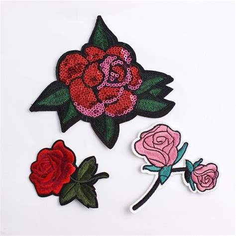 Iron Patch Patches Emblem Embroidery Flower Bunga 2 1 pcs top patches iron on sew on flower