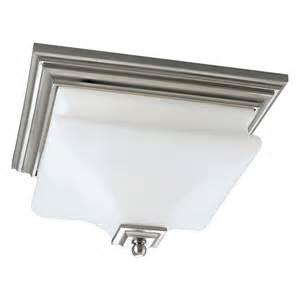 flush mount square ceiling light progress lighting p3364 2 light bratenahl square flush
