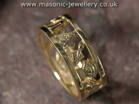 masonic wedding ring gold daj102 youtube