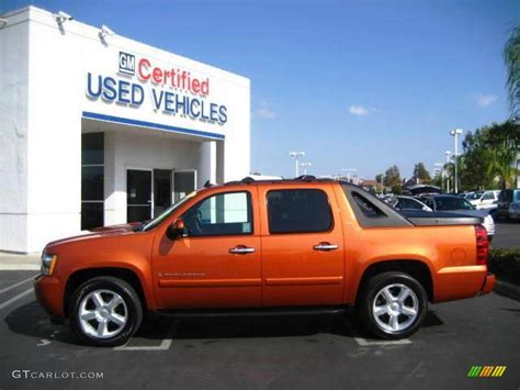 2007 sunburst orange metallic chevrolet avalanche ltz 21707920 gtcarlot car color galleries