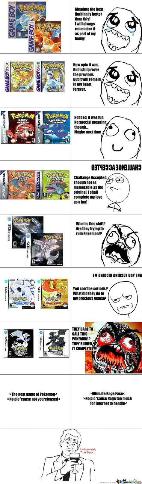 Pokemon Game Memes - pokemon games through the age by blackzerooblivion meme