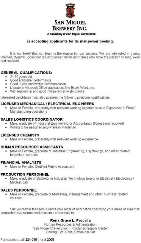 application letter for fresh graduate bsba application letter for ojt marketing management sle