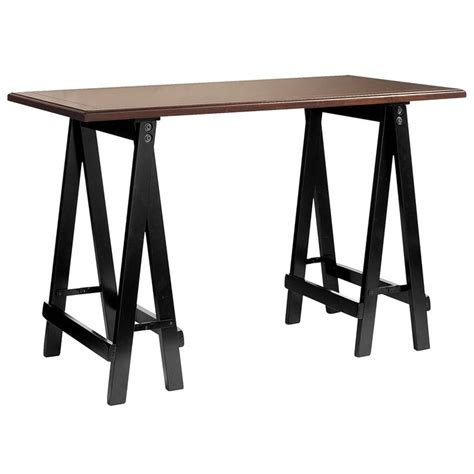 pier one office desk sawhorse desk black