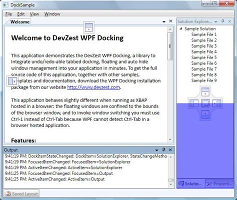 dock layout manager wpf wpf docking