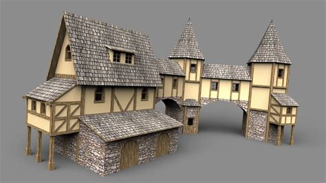 fantasy houses fantasy house 3d model obj 3ds stl skp wrl wrz cgtrader