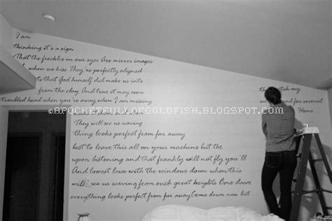 Walking On The Ceiling Lyrics by A Pocket Of Goldfish Lyric Wall And The Master Retreat