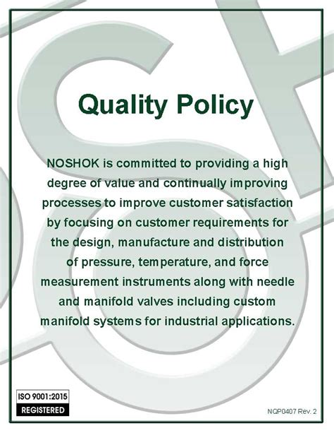 quality policy template quality policy images frompo
