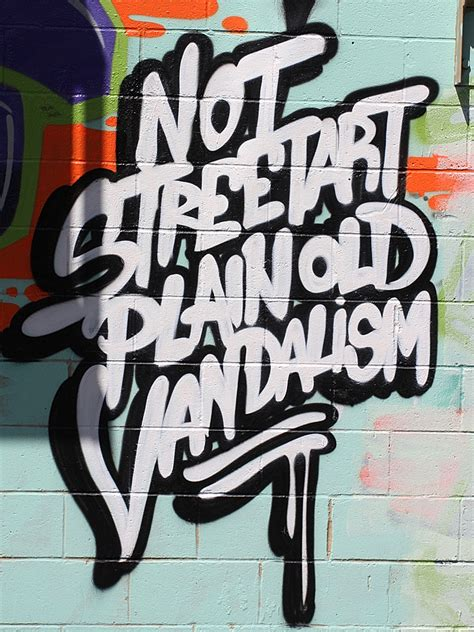 typography graffiti not just plain vandalism x from r