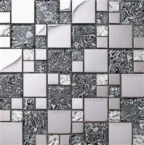 Kitchen Backsplash Stainless Steel Glass Mosaic Kitchen Backsplash Tile Stainless Steel