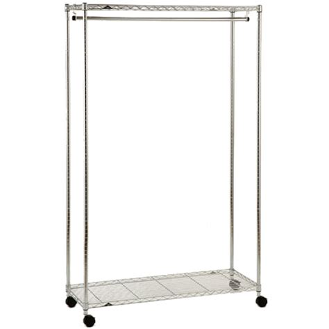 rolling garment rack rolling chrome garment rack in intermetro shelving units