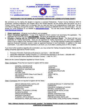 putnam county contractor license fill