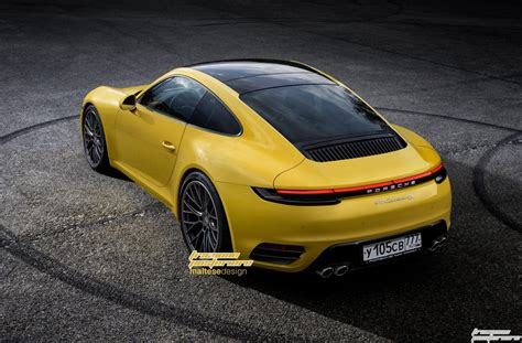 2019 Porsche 911 Imagined With Modern Design Carscoops
