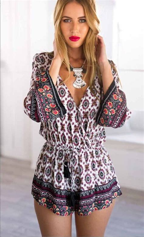 8 Rompers For Summer by Summer Sleeve Floral Print Rompers For Jumpsuit