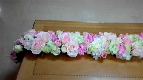 how to a table runner diy floral table runner tutorial