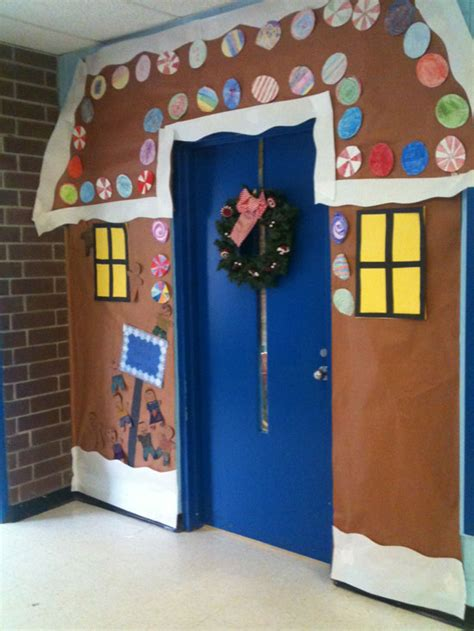 christmas doors at school door decorating ideas casual cottage