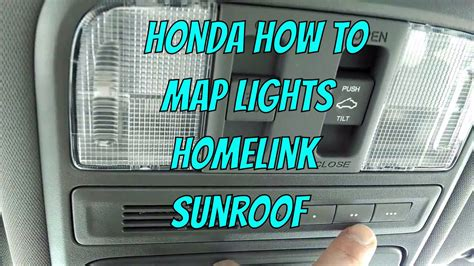 Honda Homelink by Honda Pilot Map Lights Sunroof Homelink Review