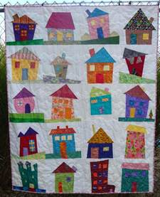 simply i finished my wonky house quilt
