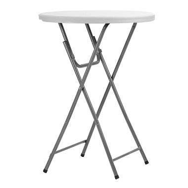 Bar Height Folding Table Maxchief 32 Quot Bar Height Event Table White Sam S Club