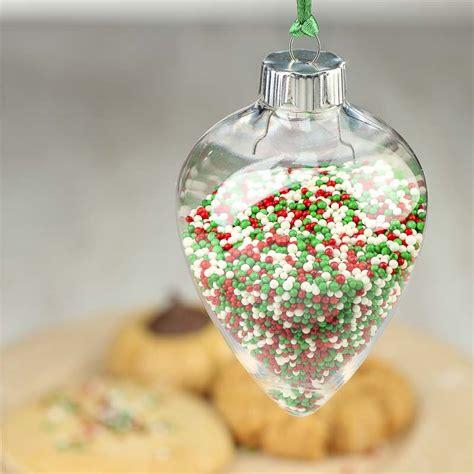 clear acrylic christmas ornament acrylic fillable