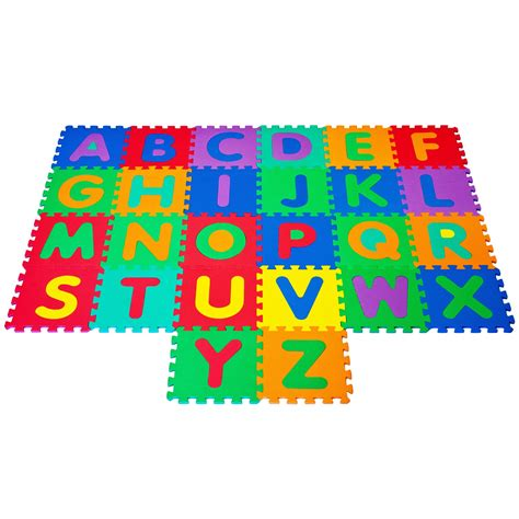 Alphabet Floor Puzzle by Recaro 96 Pc Foam Floor Alphabet Number Puzzle Mat For