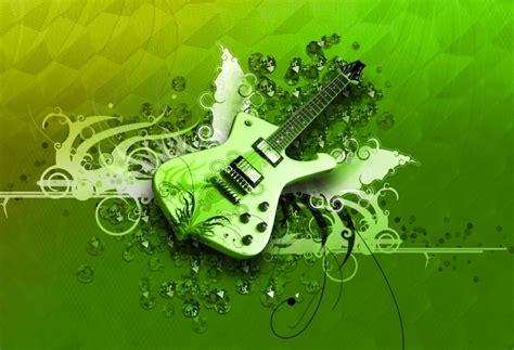 wallpaper green guitar fond d 233 cran gratuit guitare verte fonds d 233 cran musique