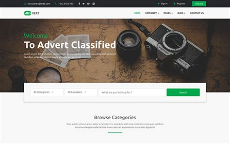 Classified Ads Template