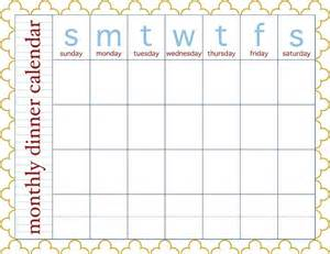 meal planning calendar template free search results for printable monthly menu planner