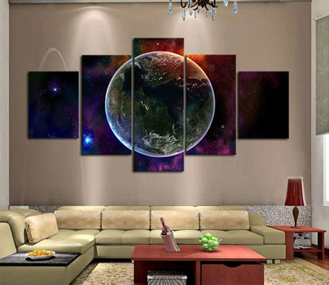 sexy home decor free shipping 5 piece hot sell earth modern home wall