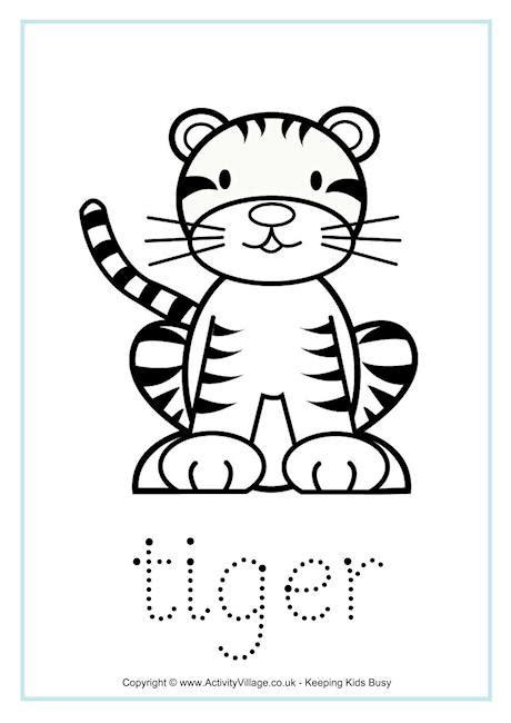 tiger word tracing