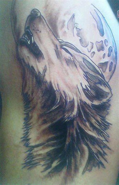 wolf howling tattoo tattoos book 65 000 tattoos designs