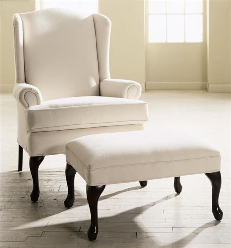 White Chair With Ottoman Furniture Charming White Brightly Colored Accent Chair With Ottoman Feat Wood Base Living
