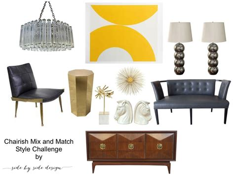 mad men inspired office with chairish studio style blog side by side design 187 mix n match style challenge