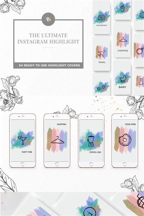 instagram highlight iconset template